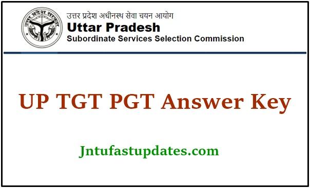 UP TGT PGT Answer Key 2021