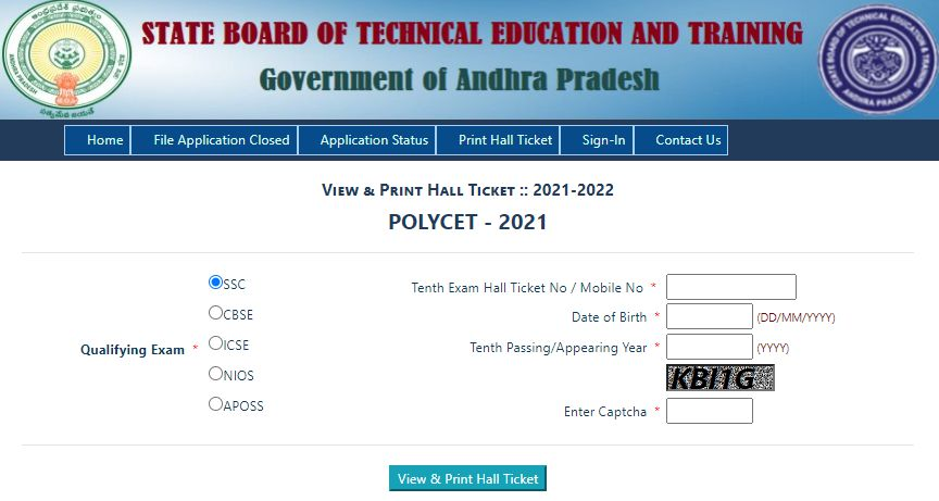 ap polycet hall ticket download 2021