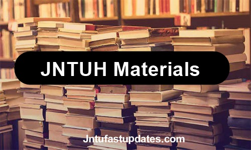 jntuh-materials