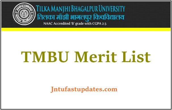 TMBU Second Merit List 2021