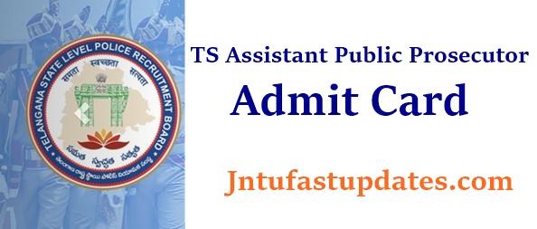 TSLPRB Assistant Public Prosecutor Hall Ticket 2021