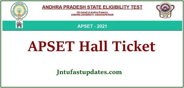 APSET Hall Ticket 2021