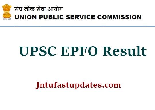 UPSC EPFO Result 2021
